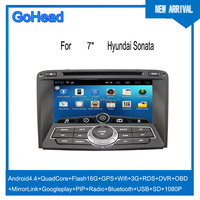 For Hyundai Sonata 2010 Car DVD GPS Android Navigation Quad Core Radio MP5 Wifi 3G RDS DVR OBD Mirror Link Capacitive Screen