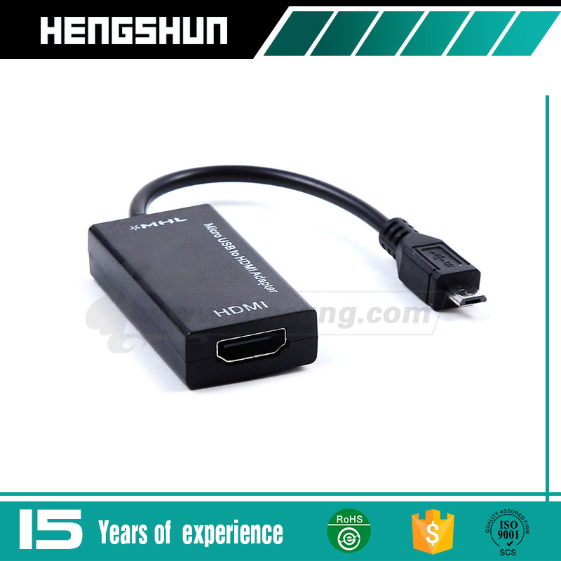 High quality 1080P Micro USB MHL to HDMI HDTV Adapter Cable
