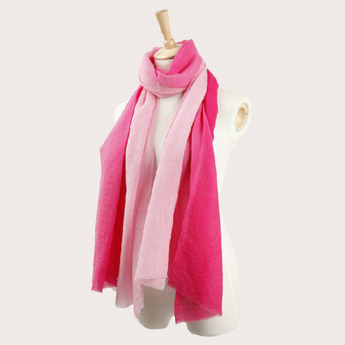 Water Soluble Wool Bicolour Gradient Keep Warm Scarf