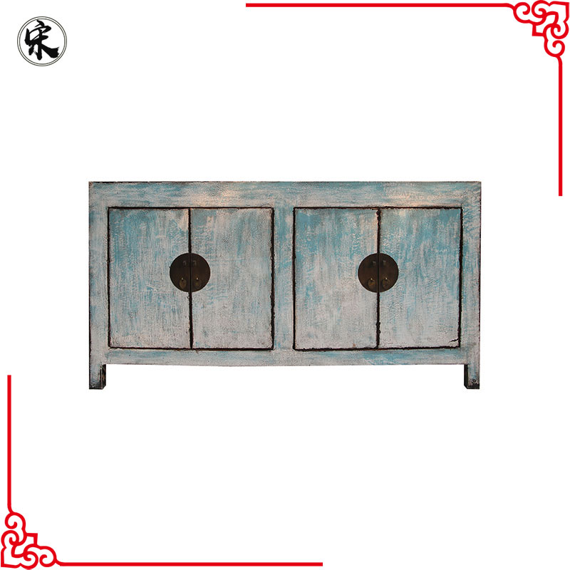 chinese antique reproduction solid wood pine lacquer oriental furniture