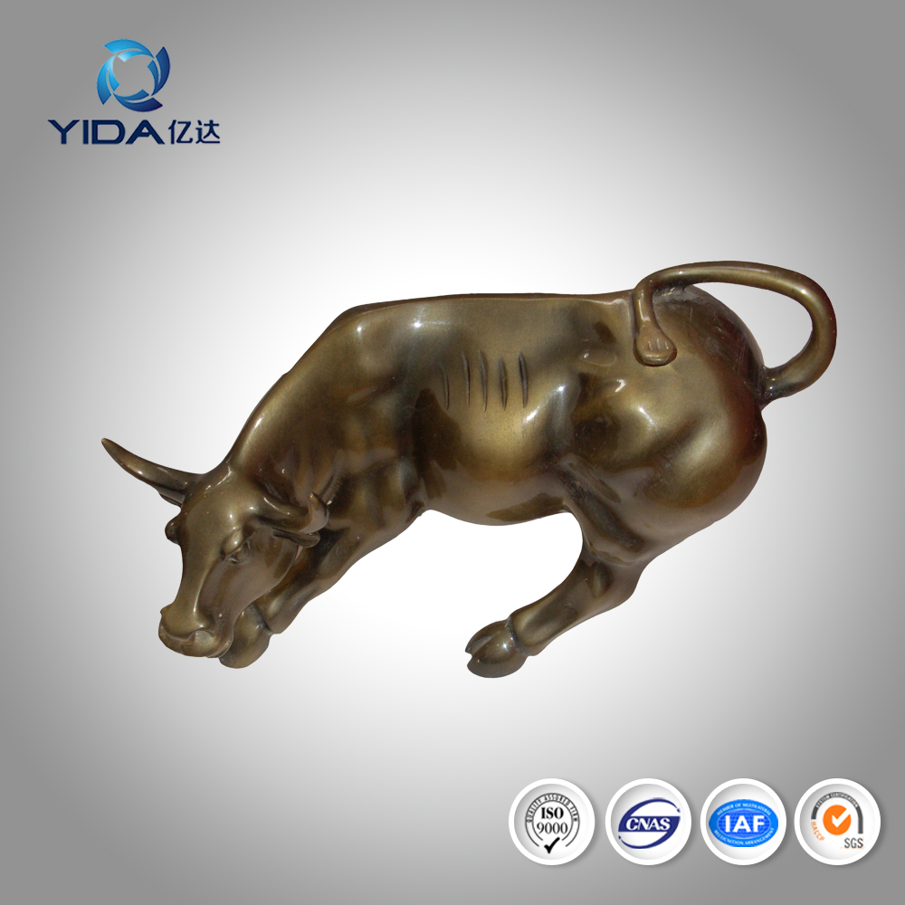 indoor decoration art wall street cast bronze charging bull sculpture
