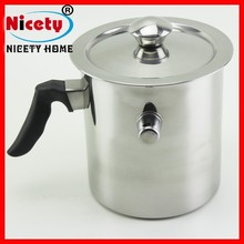Hot selling stainless steel double wall milk warmer pot with whistle