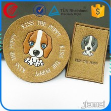 Custom embossed logo fashion design leather patch labels