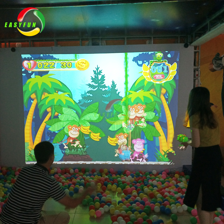 AR products Interactive magic aquarium sketch drawings interactive wall projection games for kids