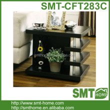 Simple Decorative MDF Dark Walnet Wooden Sofa Side Coffee Table