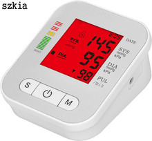 Three colour backlight digital blood pressure monitor meter measuring instrument with big LCD screen