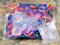 Hot selling new design diy rainbow rubber loom bands