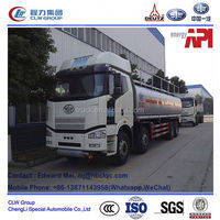 FAW J6 8*4 type 260hp~300hp 28000 liter second hand fuel tanker truck