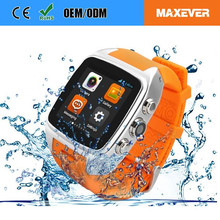 China OEM Android Sliver Phone Price for Women Waterproof GPS X01 MTK 6572 best smart watch