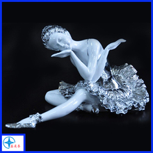 Home decor resin statue ballet dancer elegant resin craft angel resin figurine