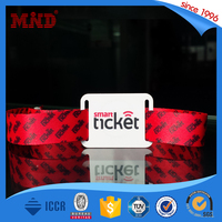 MDWW157 Promotional custom cloth fabric wristbands cloth Event Wristband