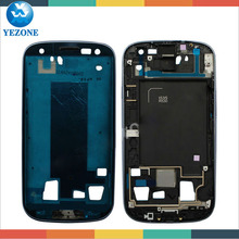 Yezone Cell Phone Parts LCD Bezel Frame For Samsung Galaxy S3 i535 Faceplate Front Cover LCD Frame Verizon Replacement Housing