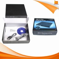 USB 2.0 External Slim Portable Optical DVD-RW DVD-ROM Drive