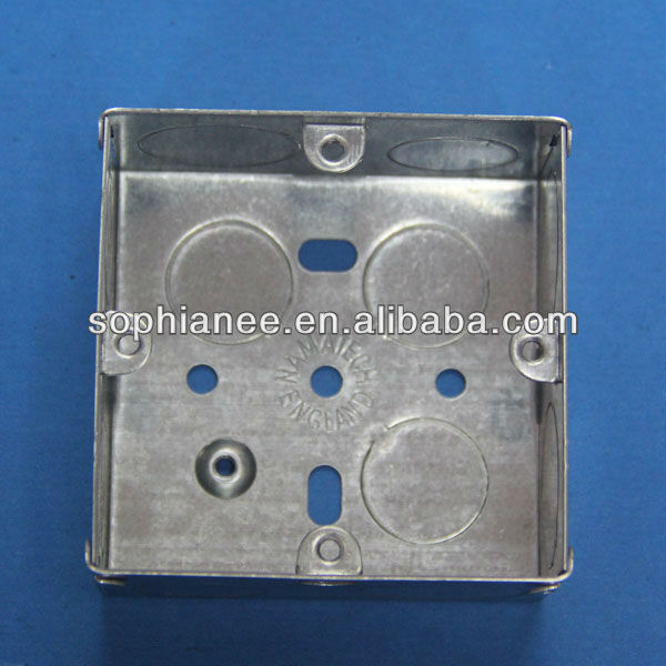 IP65 BS Standard Electrical GI Iron Wall Switch Boxes