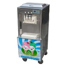 3 flavor commercial soft serve yogurt ice cream maker machine for sale