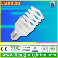 Hot selling 8000Hrs Lifespan factory supply high quality CFL half sprial Energy Saving Light E27 9mm 5w 7w 9w 11w 13w