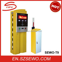 SEWO Smart RFID/ ticket traffic security car parking lot system solution and remote control parking space barrier