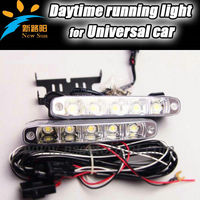 2 x 5W/10W LED DRL Daytime Running Lights High Power Super Bright Fog Lights Universal Waterproof 10W 12V drl light For cars