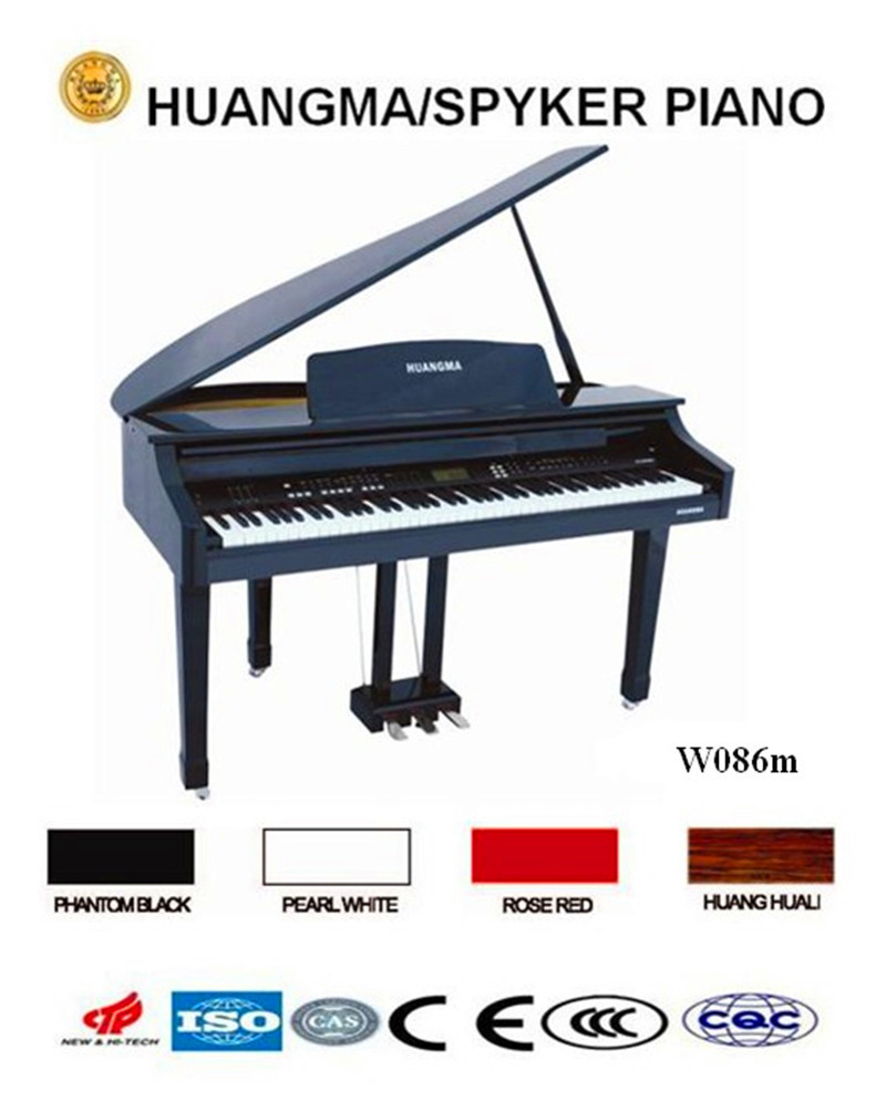 Digital Piano 88 keys Black Polish Grand Digital Piano HUANGMA HD-W086m music keyboard instrument
