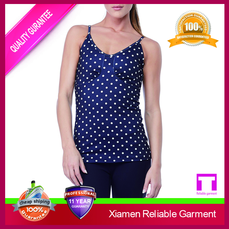 92% nylon 8% spandex fashion seamless woman tank tops