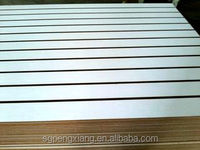 Slot MDF/ Plain/ Wood Veneer/ PVC / HPL/ UV/ Melamine Laminated MDF and HDF Board