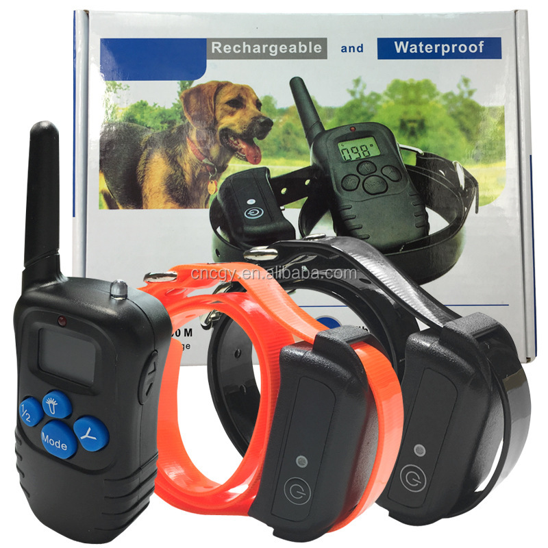 Waterproof Dog Shock Collars Pet Dog Trainer Remote Dog Training E-collar Beep/Vibration/Shock Electric dog training collar