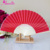 18 Colors New Bamboo Silk Fabric Hand Folding Fans Wedding Gifts Souvenirs