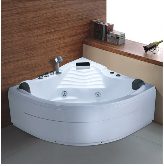 SMT105, 1350*1350mm whirlpool massage corner bathtub