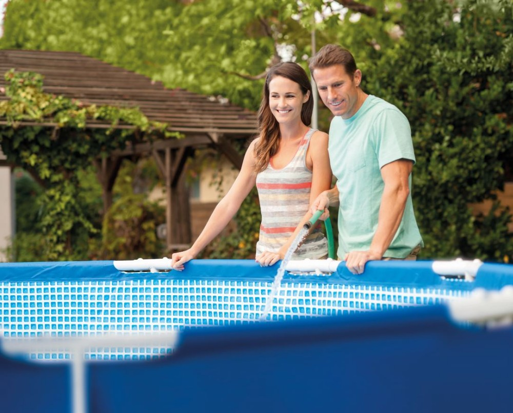 Intex Metal Frame Inflatable Round Swimming Pool Set