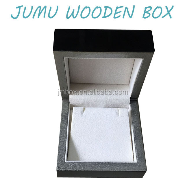 unique wood piano black lacquer finish wooden earring gift box