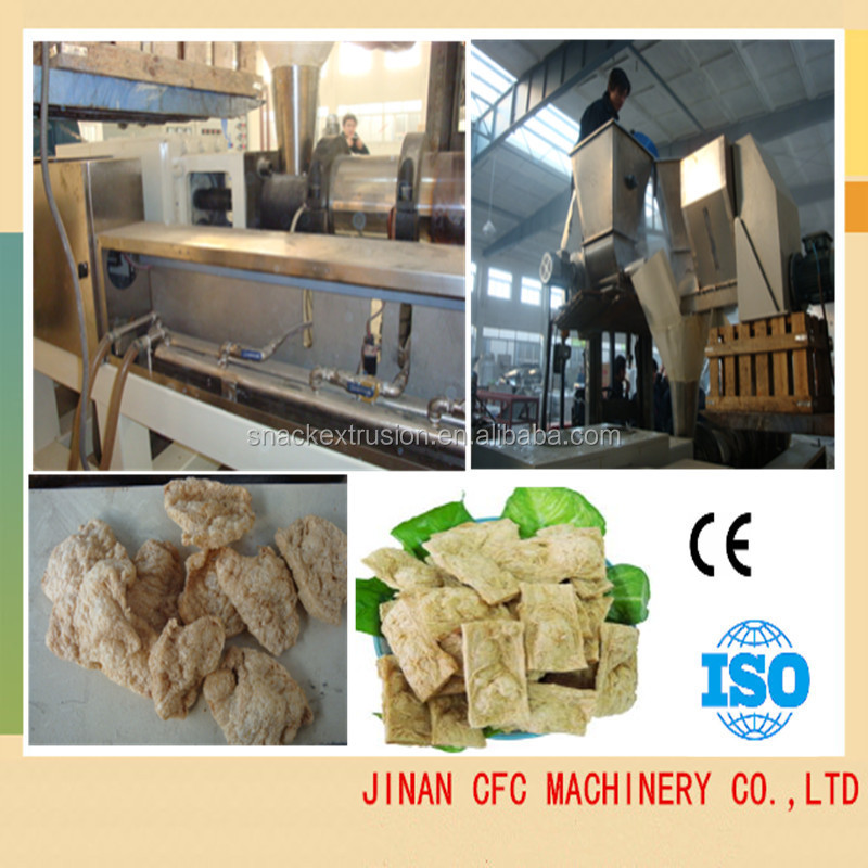 Fully automatic soya meat/ soy protein food production line