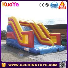durable 0.55mm pvc inflatabe dry slide
