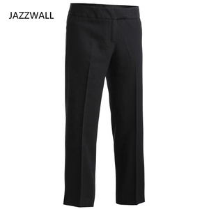 Latest office lady formal customized casual loose long women new fashion pants women black trousers