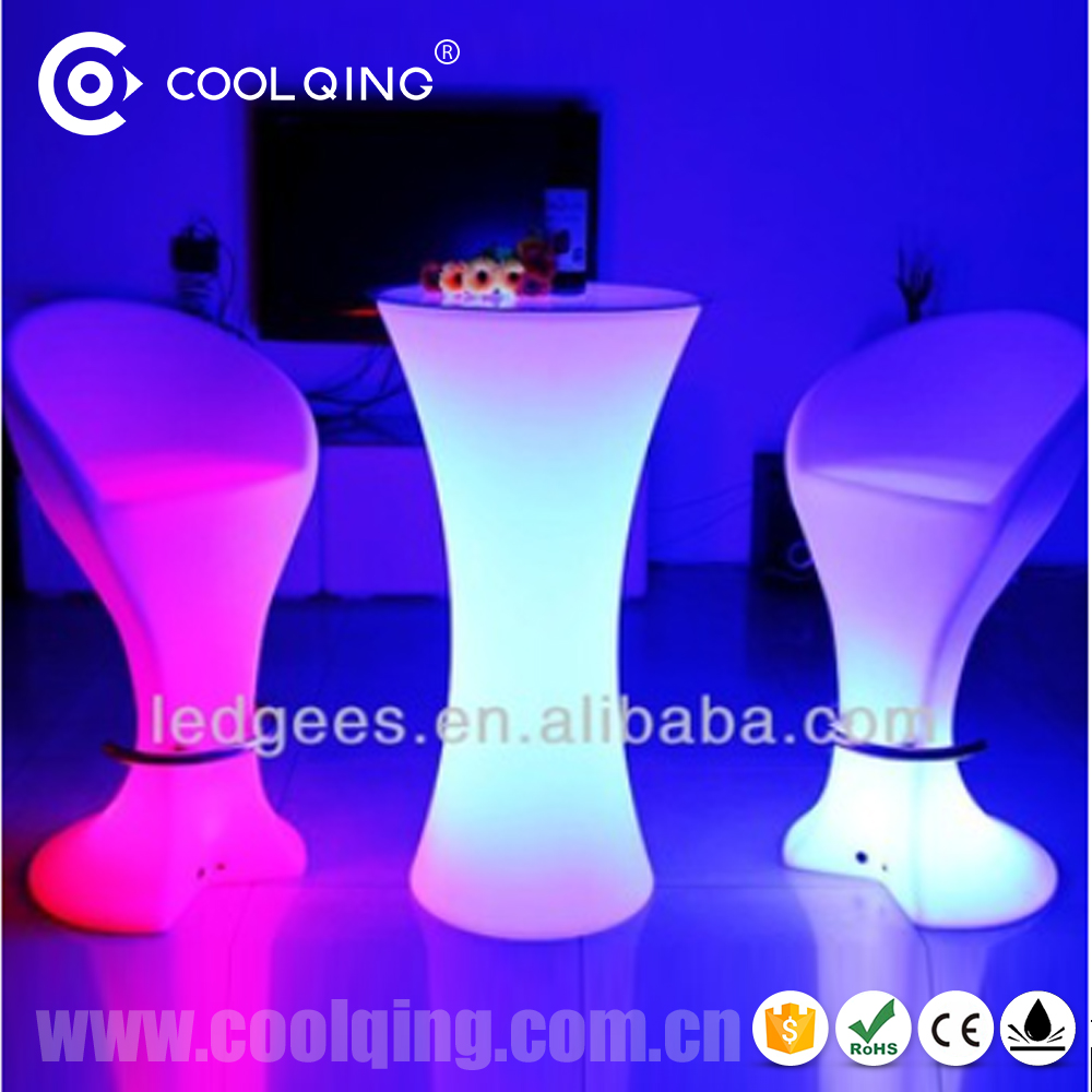 imagine LED Bar table and chair furniture for party and event indoor and out door pull up bar