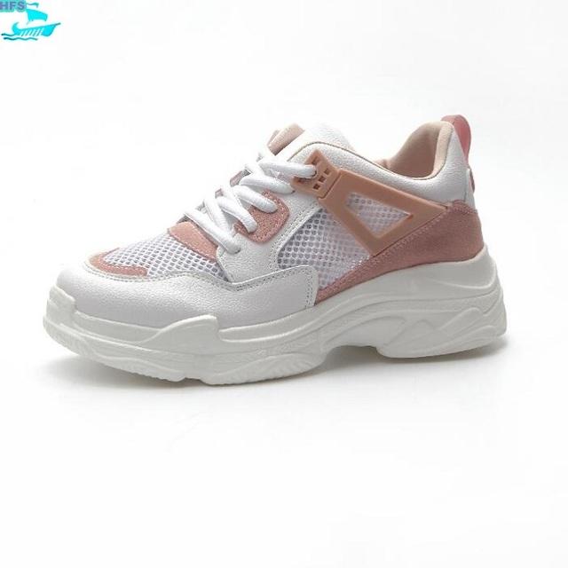 HFS1202A 2018 Summer Korea Mesh Fashion Women Shoes Sneakers