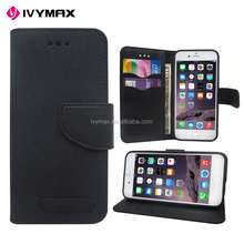 China supplier leather diary phone case mercury canvas leather case for Apple iphone 6