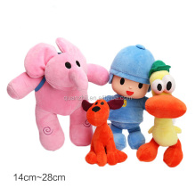New High Quality plush Pocoyo ELLY PATO Soft Plush Stuffed Figure Toy Doll