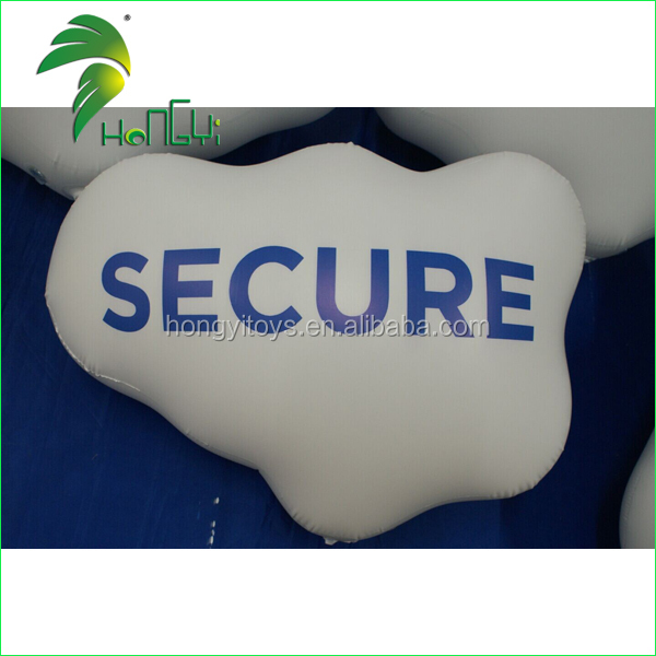 Customized Inflatable Advertising Cloud, Inflatable Helium Cloud Balloon Shape For Promotion