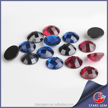 Wuzhou wonderful round checkerboard faceted cut gemstones