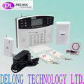 LCD gsm intelligent alarm system with wired +99 wireless zones