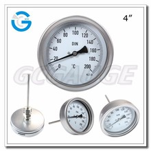 High Quality ss bayonet ring 4inch 100mm wika thermometer