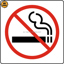 Reflective plastic road traffic manufacturers no smoking message safety sign board