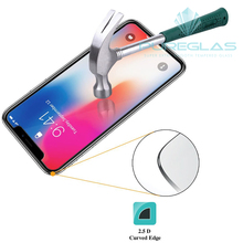 slim new smart custom size anti UV cell phone tempered glass screen protector for iPhone X