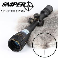 Military Long Range Hunting Scopes Sniper NT4.5-18x44AOGL RGB illuminated Air Rifle Scopes with Riflescope mount