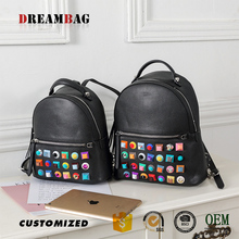 Factory custom color rivets design top quality mexican backpacks