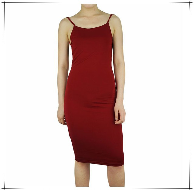 Women Bodycon Dress 2015 Sexy Backless Knee Length Spaghetti Strap Black Red Pencil Club Party Dresses from supplier Guangzhou
