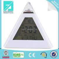 Fupu good looking simple table alarm clock pyramid shape clock
