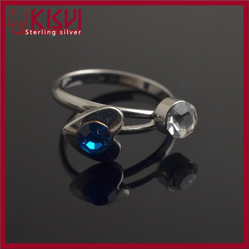 jewelry ring silver rhodium kisvi silver factory with low price