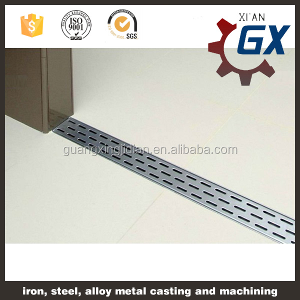 China Manufacturers suply stainless steel rectangular floor drain