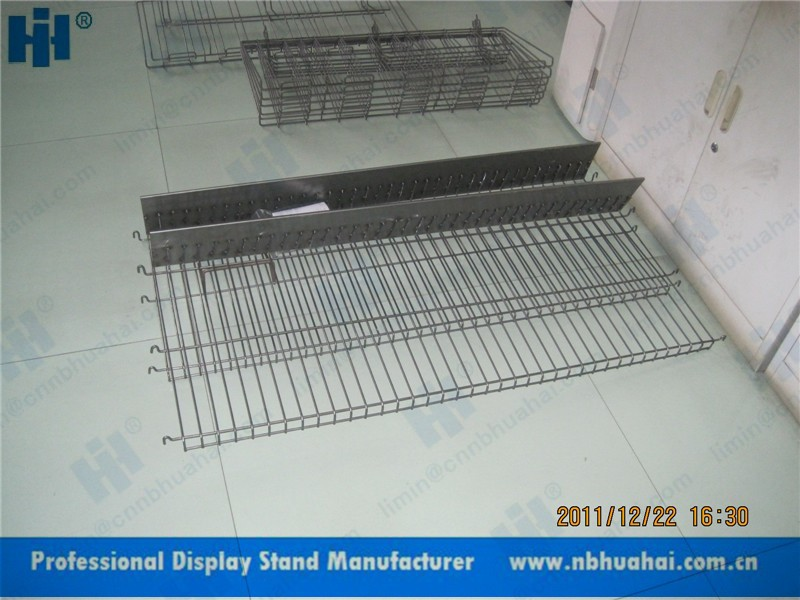 metal wire haning shelves for gridwall display, gridwall display shelves